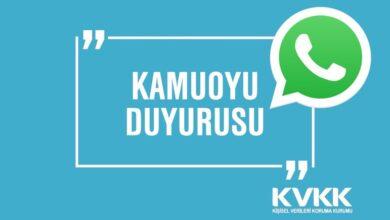 KVKK WhatsApp İçin Duyuru Yaptı!